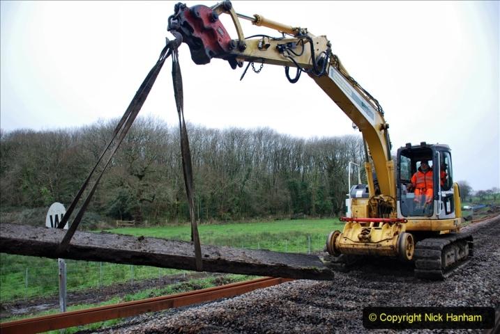 2020-01-07 Track renewal Cowpat Crossing to Just beyond Dickers Crossing. (94) 094