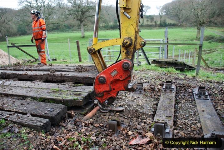2020-01-07 Track renewal Cowpat Crossing to Just beyond Dickers Crossing. (95) 095