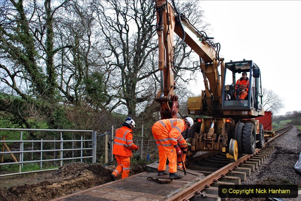 2020-01-08 Track renewal Cowpat Crossing to just beyond Dickers Crossing. (105) 105
