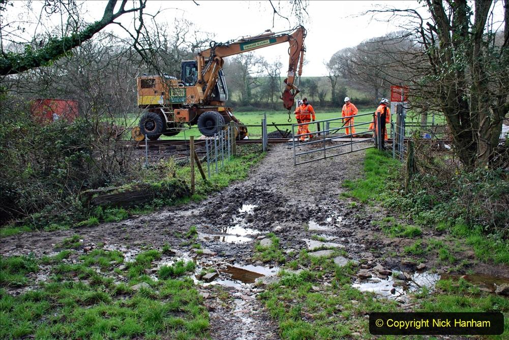 2020-01-08 Track renewal Cowpat Crossing to just beyond Dickers Crossing. (107) 107