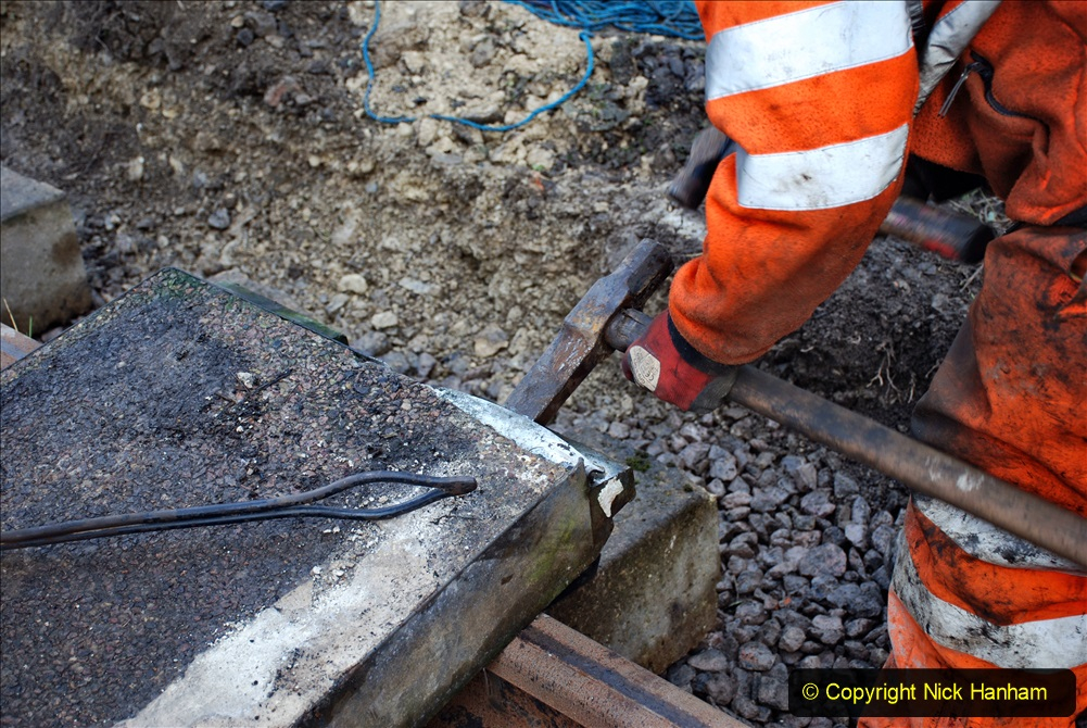 2020-01-08 Track renewal Cowpat Crossing to just beyond Dickers Crossing. (112) 112