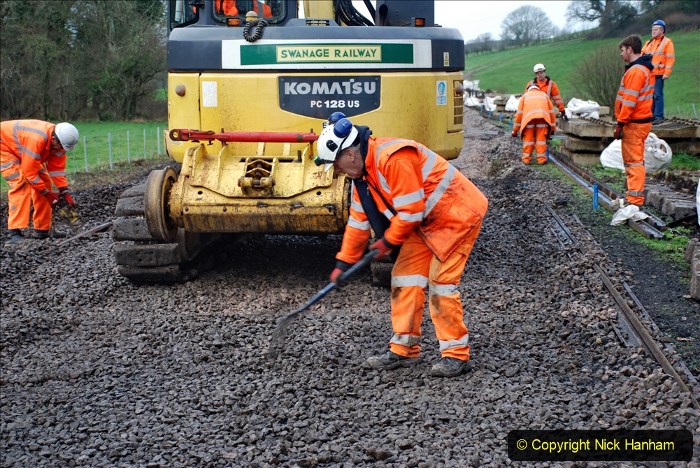 2020-01-08 Track renewal Cowpat Crossing to just beyond Dickers Crossing. (130) 130