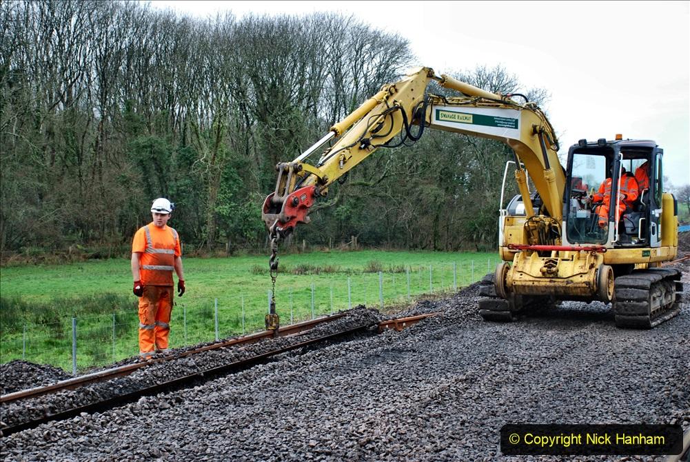 2020-01-08 Track renewal Cowpat Crossing to just beyond Dickers Crossing. (140) 140