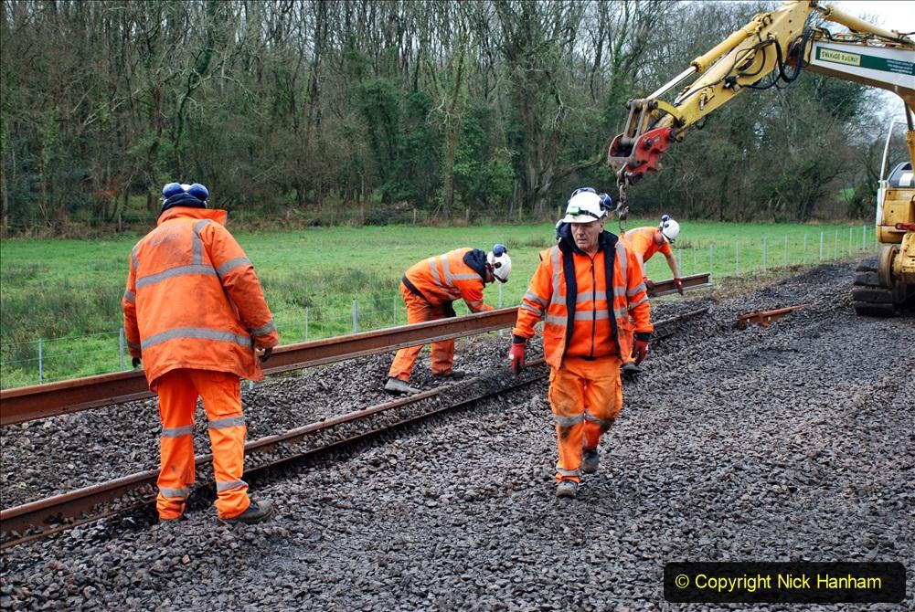 2020-01-08 Track renewal Cowpat Crossing to just beyond Dickers Crossing. (141) 141