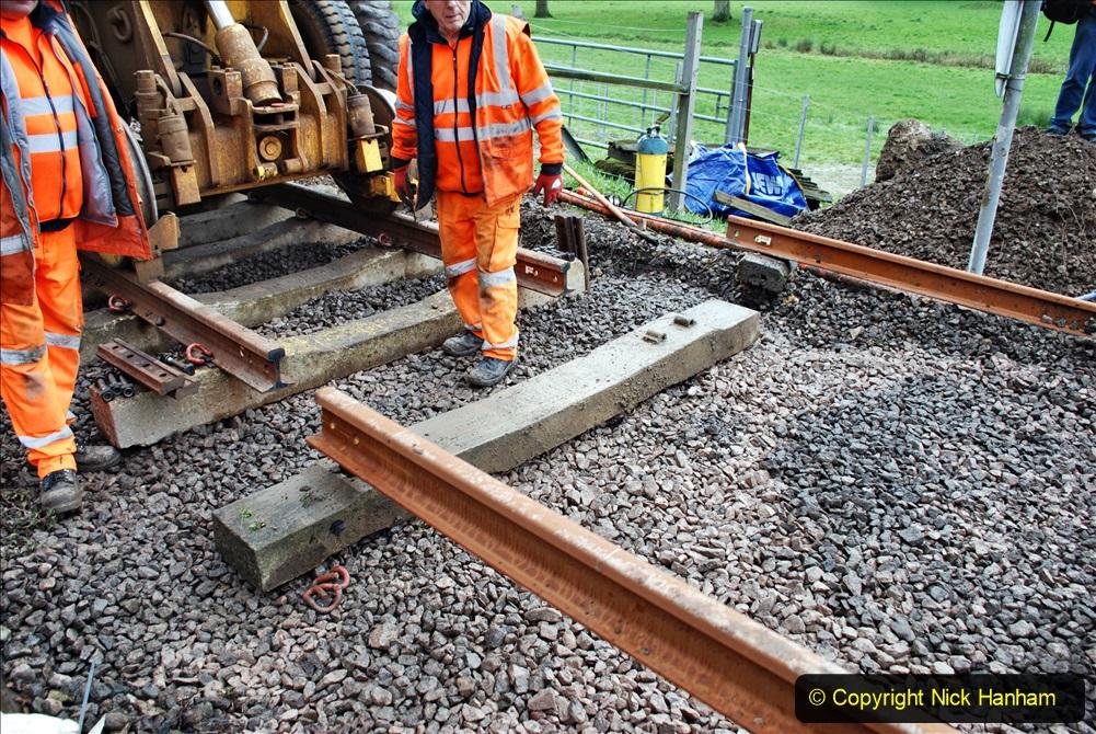 2020-01-08 Track renewal Cowpat Crossing to just beyond Dickers Crossing. (142) 142
