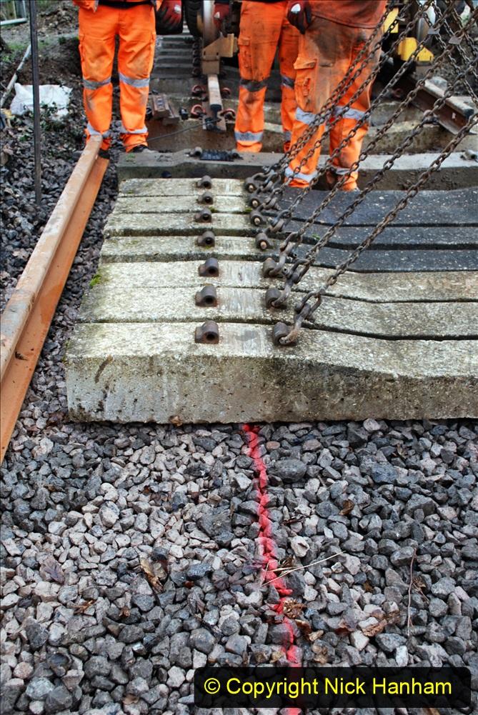 2020-01-08 Track renewal Cowpat Crossing to just beyond Dickers Crossing. (162) 162