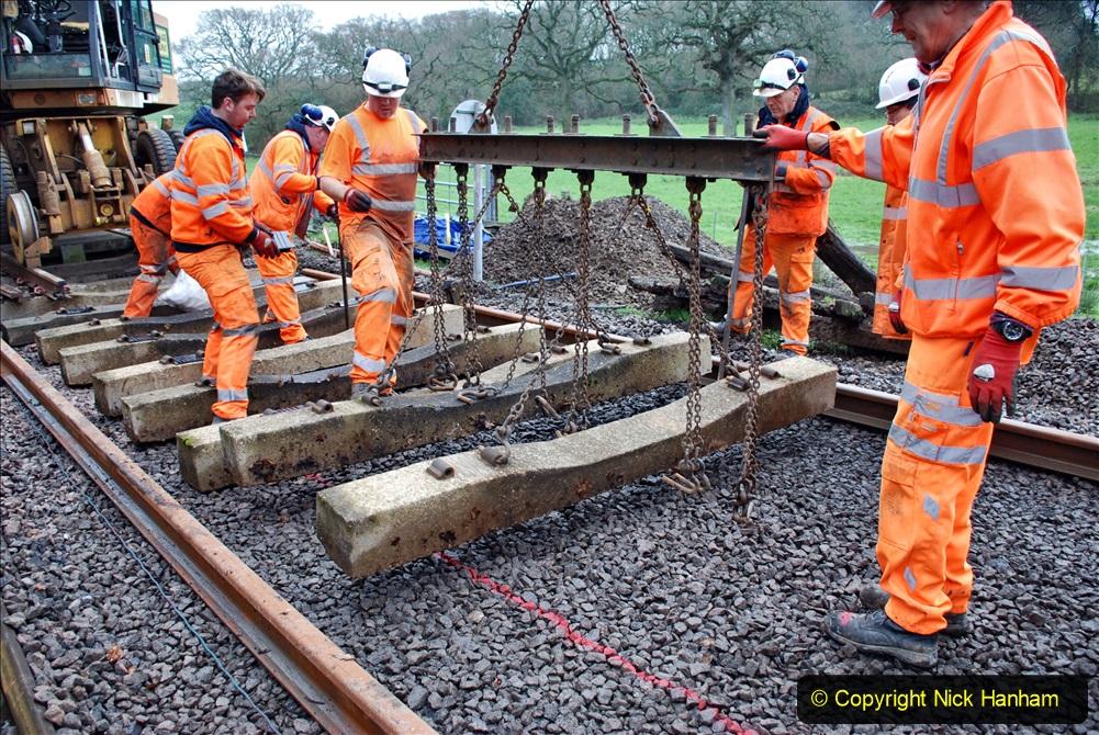 2020-01-08 Track renewal Cowpat Crossing to just beyond Dickers Crossing. (166) 166