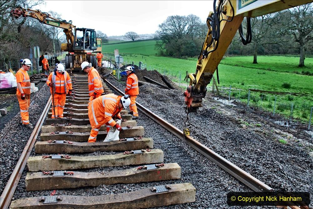 2020-01-08 Track renewal Cowpat Crossing to just beyond Dickers Crossing. (183) 183