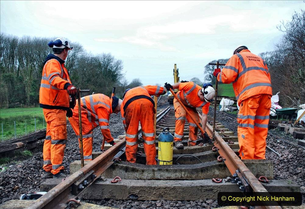 2020-01-08 Track renewal Cowpat Crossing to just beyond Dickers Crossing. (207) 207