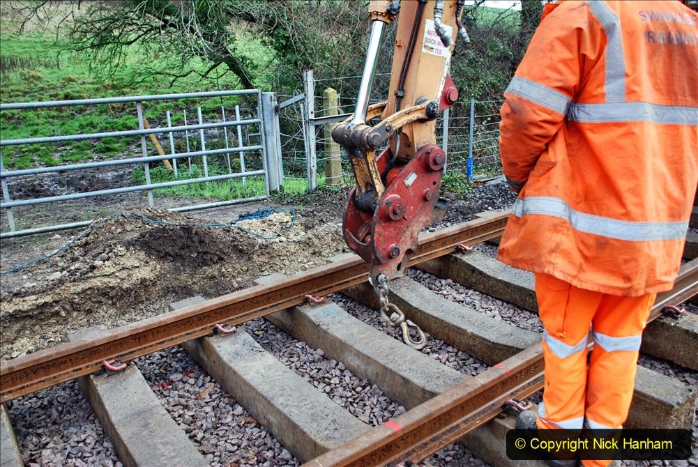 2020-01-08 Track renewal Cowpat Crossing to just beyond Dickers Crossing. (53) 053