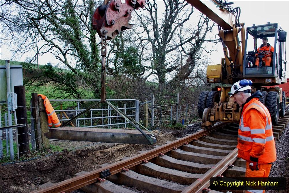 2020-01-08 Track renewal Cowpat Crossing to just beyond Dickers Crossing. (60) 060