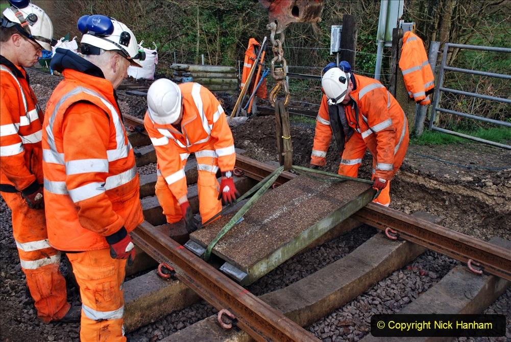2020-01-08 Track renewal Cowpat Crossing to just beyond Dickers Crossing. (63) 063
