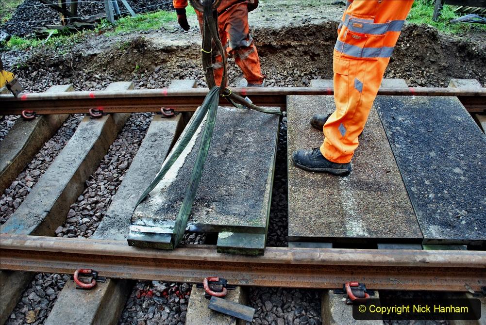 2020-01-08 Track renewal Cowpat Crossing to just beyond Dickers Crossing. (86) 086
