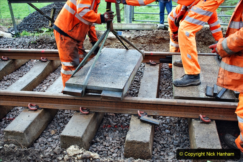 2020-01-08 Track renewal Cowpat Crossing to just beyond Dickers Crossing. (88) 088