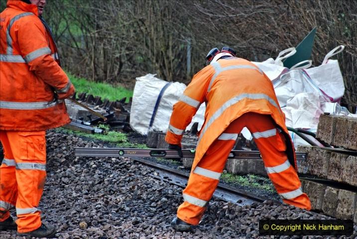 2020-01-08 Track renewal Cowpat Crossing to just beyond Dickers Crossing. (122) 122