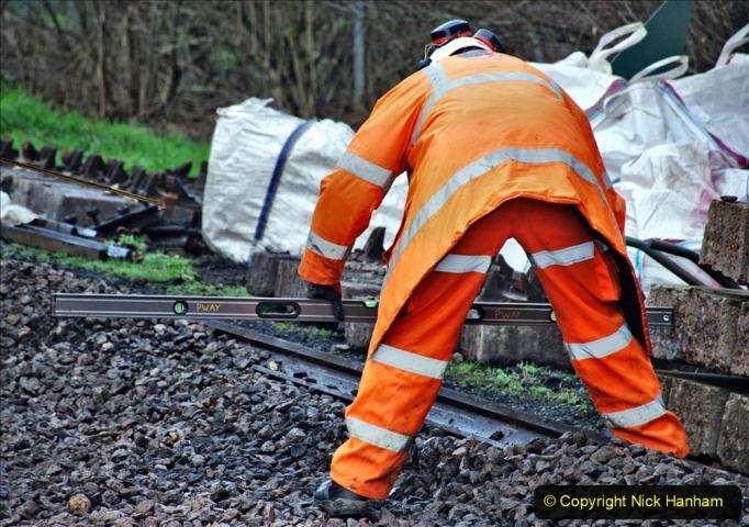 2020-01-08 Track renewal Cowpat Crossing to just beyond Dickers Crossing. (123) 123