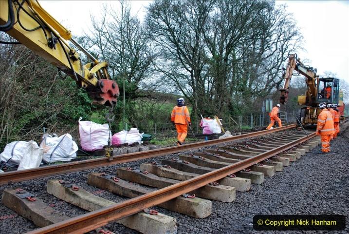 2020-01-08 Track renewal Cowpat Crossing to just beyond Dickers Crossing. (194) 194