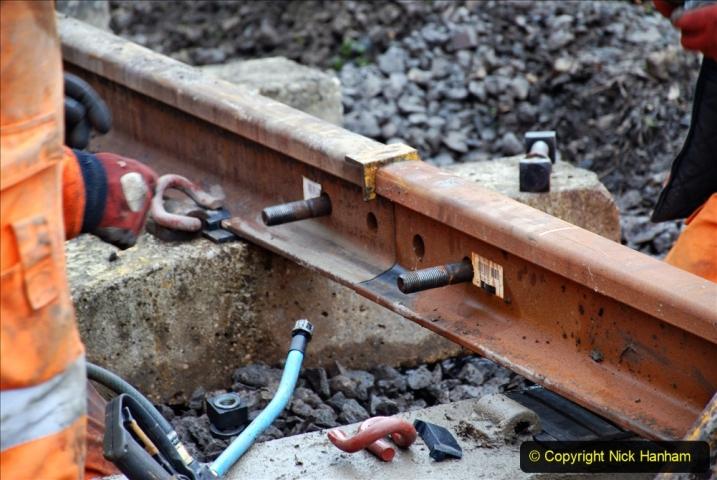 2020-01-08 Track renewal Cowpat Crossing to just beyond Dickers Crossing. (197) 197