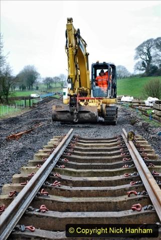 2020-01-08 Track renewal Cowpat Crossing to just beyond Dickers Crossing. (199) 199
