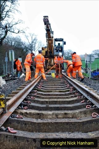 2020-01-08 Track renewal Cowpat Crossing to just beyond Dickers Crossing. (209) 209