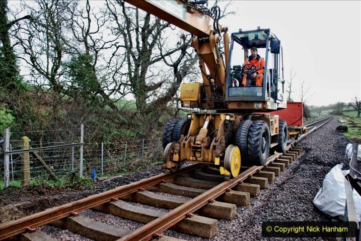 2020-01-08 Track renewal Cowpat Crossing to just beyond Dickers Crossing. (52) 052