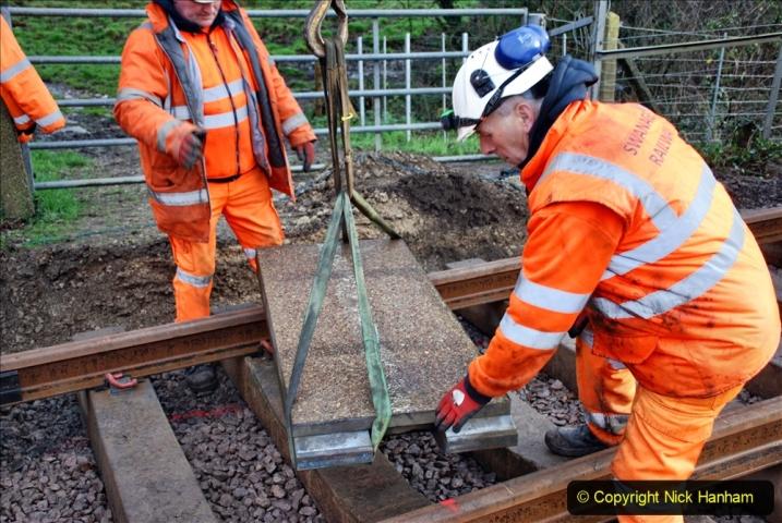 2020-01-08 Track renewal Cowpat Crossing to just beyond Dickers Crossing. (62) 062