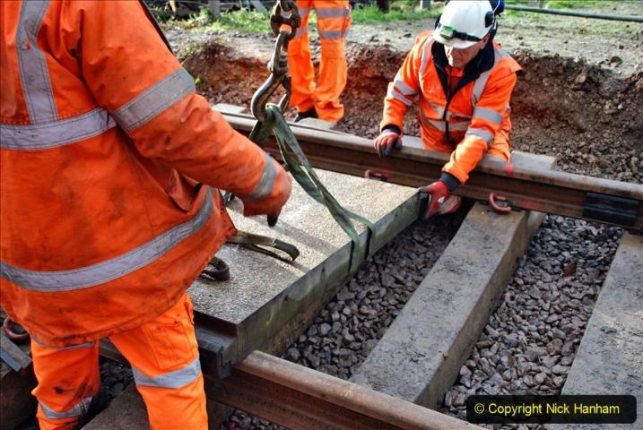 2020-01-08 Track renewal Cowpat Crossing to just beyond Dickers Crossing. (66) 066