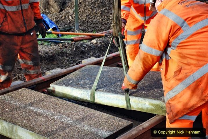 2020-01-08 Track renewal Cowpat Crossing to just beyond Dickers Crossing. (78) 078
