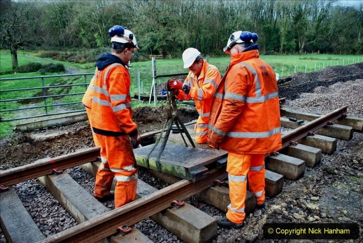 2020-01-08 Track renewal Cowpat Crossing to just beyond Dickers Crossing. (89) 089