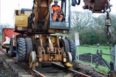 2020-01-08 Track renewal Cowpat Crossing to just beyond Dickers Crossing. (210) 210
