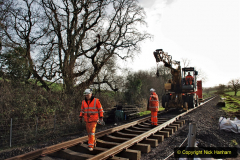 2020-01-08 Track renewal Cowpat Crossing to just beyond Dickers Crossing. (47) 047