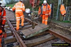 2020-01-08 Track renewal Cowpat Crossing to just beyond Dickers Crossing. (64) 064