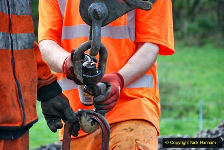 2020-01-09 Track renewal Cowpat Crossing to just beyond Dickers crossing. (100) 100