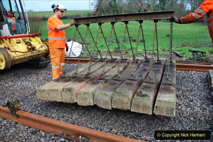 2020-01-09 Track renewal Cowpat Crossing to just beyond Dickers crossing. (104) 104