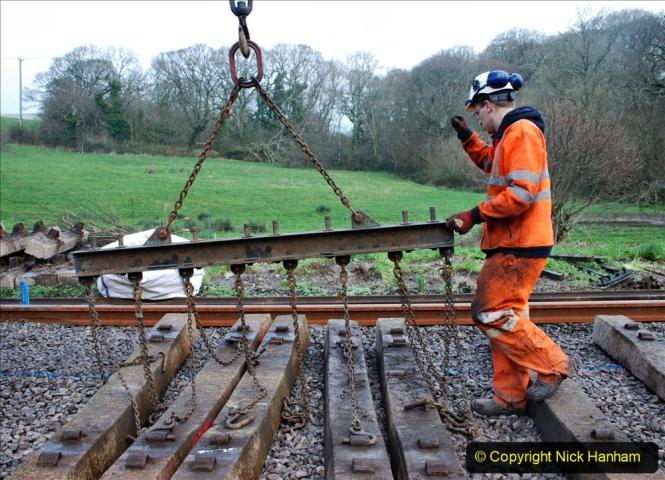 2020-01-09 Track renewal Cowpat Crossing to just beyond Dickers crossing. (107) 107