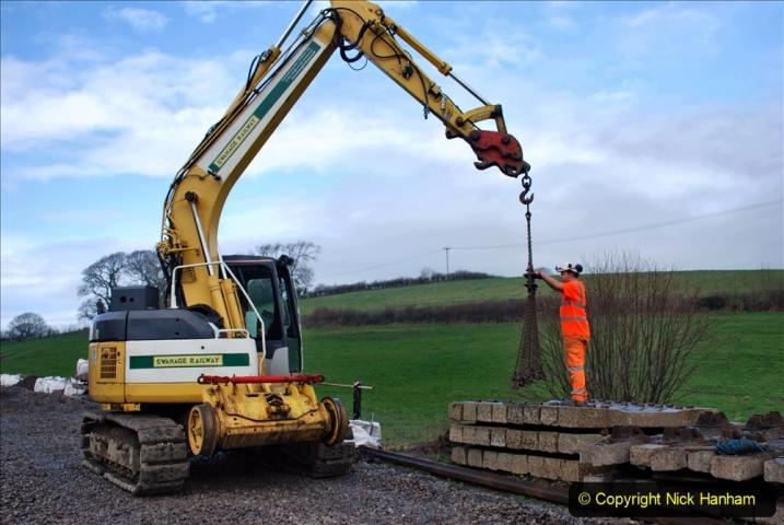 2020-01-09 Track renewal Cowpat Crossing to just beyond Dickers crossing. (108) 108