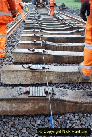 2020-01-09 Track renewal Cowpat Crossing to just beyond Dickers crossing. (110) 110