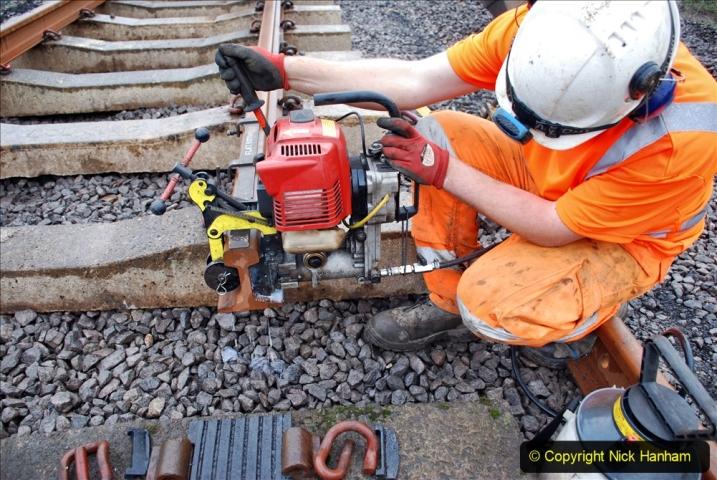 2020-01-09 Track renewal Cowpat Crossing to just beyond Dickers crossing. (111) 111