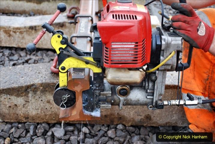 2020-01-09 Track renewal Cowpat Crossing to just beyond Dickers crossing. (112) 112