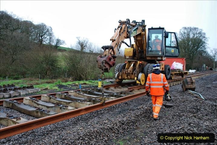 2020-01-09 Track renewal Cowpat Crossing to just beyond Dickers crossing. (123) 123