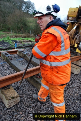 2020-01-09 Track renewal Cowpat Crossing to just beyond Dickers crossing. (124) 124