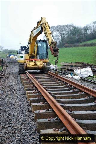 2020-01-09 Track renewal Cowpat Crossing to just beyond Dickers crossing. (129) 129