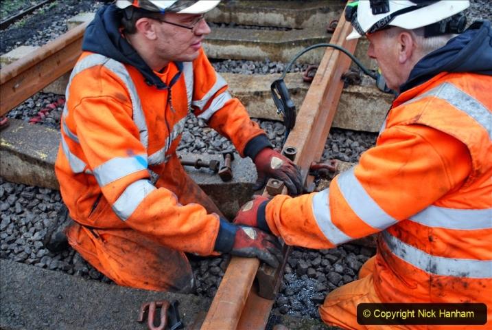 2020-01-09 Track renewal Cowpat Crossing to just beyond Dickers crossing. (130) 130