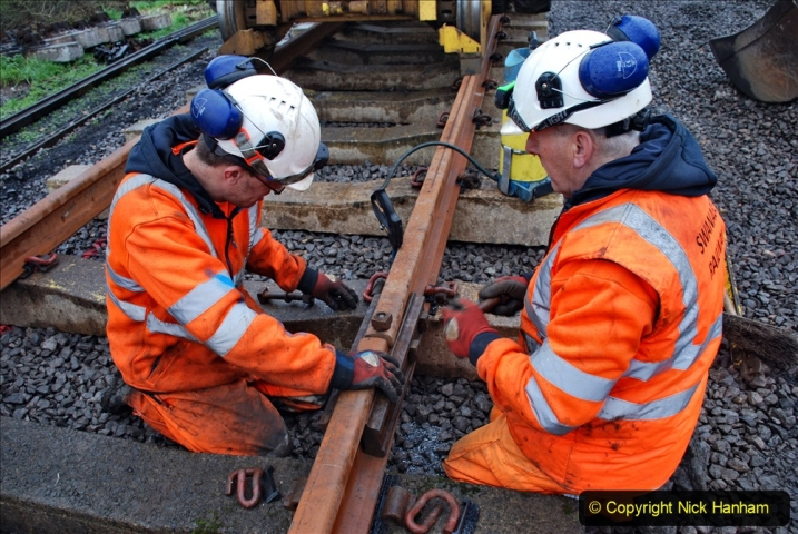 2020-01-09 Track renewal Cowpat Crossing to just beyond Dickers crossing. (131) 131