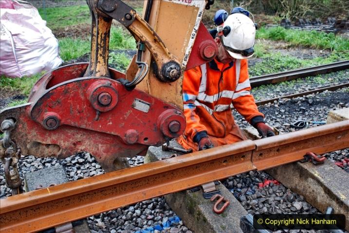 2020-01-09 Track renewal Cowpat Crossing to just beyond Dickers crossing. (132) 132