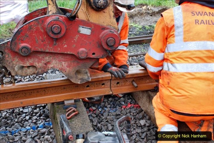 2020-01-09 Track renewal Cowpat Crossing to just beyond Dickers crossing. (133) 133