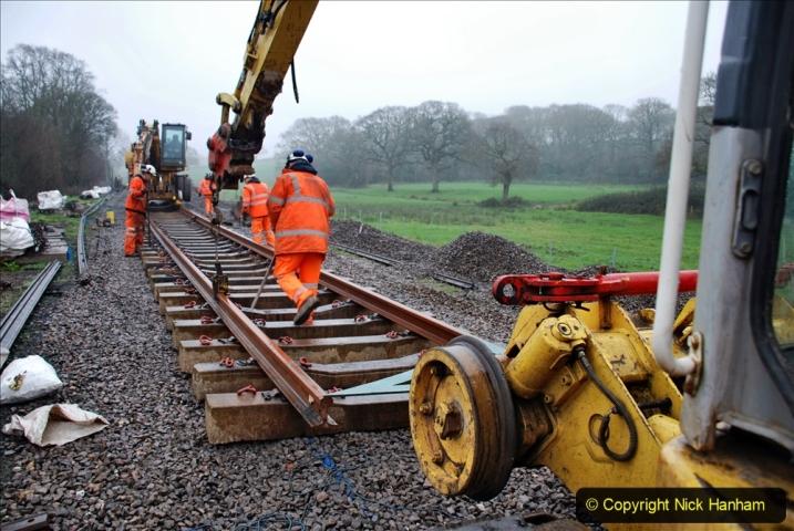 2020-01-09 Track renewal Cowpat Crossing to just beyond Dickers crossing. (139) 139