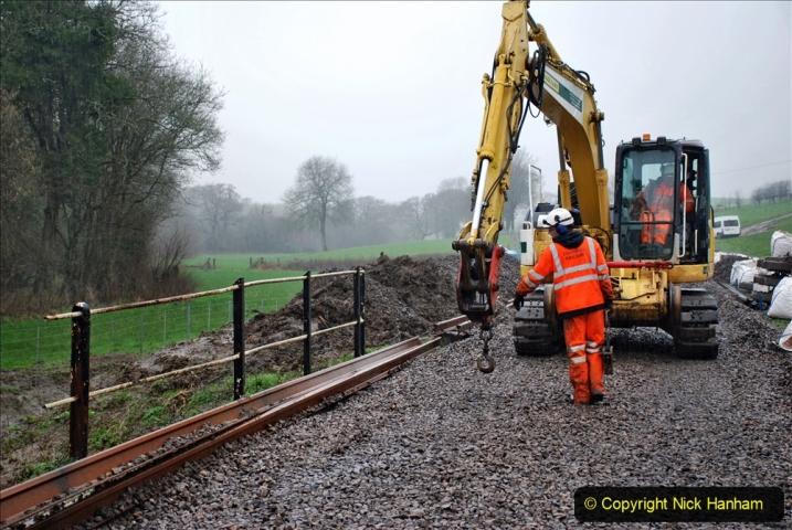 2020-01-09 Track renewal Cowpat Crossing to just beyond Dickers crossing. (141) 141