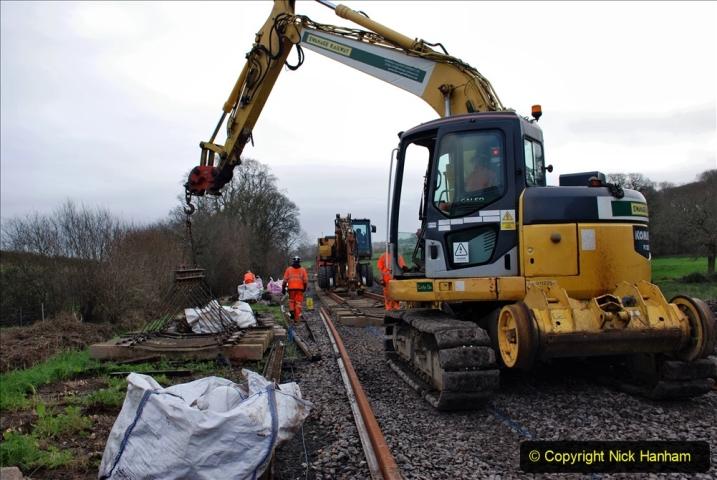 2020-01-09 Track renewal Cowpat Crossing to just beyond Dickers crossing. (97) 097