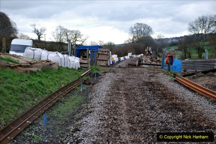 2020-01-10 Track renewal Cowpat Crossing to just beyond Dickers Crossing. (121) Track and drainage work. 121